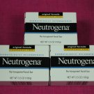Neutrogena Transparent Facial Bar 3.5 oz, Original Fragrance Free Formula 3 pack