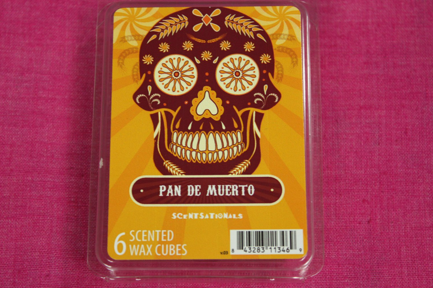 Scentsationals Pan De Muerto Wax Melt Cubes Special Day of the Dead Edition