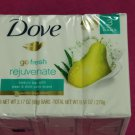 Dove Go Fresh Rejuvenate Pear and Aloe Vera Beauty Soap Bars, 3 Count 3.17 oz.