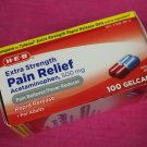HEB Acetaminophen 500mg Extra Strength Pain Relief Rapid Release Gelcaps 100 ct
