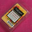 Tuscany Candle Wax Melt Cubes Cranberry & Orange