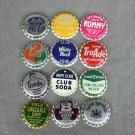 Uncrimped Bottle Caps Lot of 12 Plastic Lined Group 3