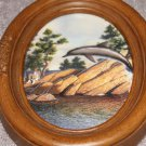 Dolphin Print in Oval Frame