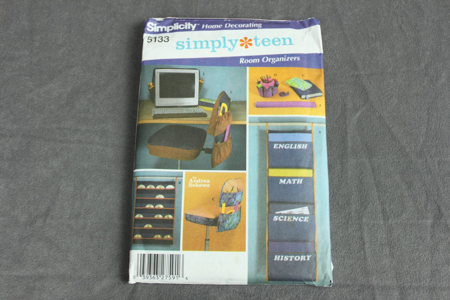 Simplicity Pattern 5133 Home Decorating Simply Teen Room Organizers Uncut