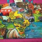 Reusable Shopping Bag Texas Bright Colors