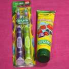 GUM Children's Crayon Toothbrushes and Toothpaste