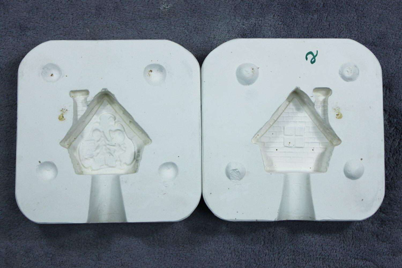 Vintage Plaster Ceramics Casting Mold - Cricket Molds Christmas House?