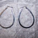 Avon Hammered Teardrop Hoop Earrings
