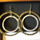 Avon Hammered Hoop Earrings