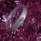 Avon Frosted Embellished Bangle Bracelet - Silvertone