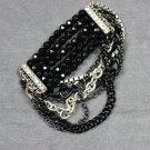 Avon Multi Chain Beaded Stretch Bracelet
