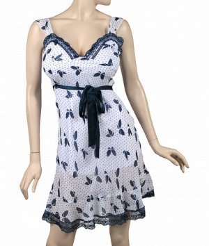 White-Blue Laced Dress