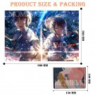 MOMEMO KIMI NO NAWA 1000 Pieces Wooden Jigsaw Puzzle Beautiful Anime Your Name Picture Puzzle Toys f