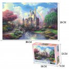 MOMEMO Rainbow Castle Puzzles Wooden 1000 Pieces Jigsaw Puzzle for Adults Cartoon Landscape Puzzle G