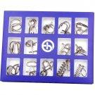 Montessori Metallic 15 Pcs/set Metal Wire Toys For Children Adult 2 Styles IQ Mind Brain Teaser Puzz