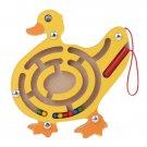 Kids Wooden Puzzle Magnetic Maze Intellectual Jigsaw Board Toy Development Brain Teaser Maze Toy For