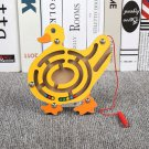 Children Magnetic Pen Maze Toy Kids Wooden Animal Track Game Puzzle Game Kids Early Educational Brai