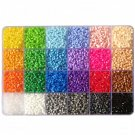 24 Colors 2.6mm Hama Beads 15600pcs/Box Puzzles for Kids Fuse perler beads Set Toy Learning Toys for