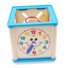 Children Wooden Multi-function Puzzles Round Bead Treasure Box Early Learning Intellectual Developme