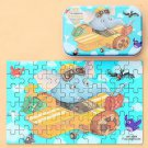 60 Pieces Wooden Puzzle Toys with Iron Box Kids Cartoon Animal Wood Puzzles Educational Toys for Chi