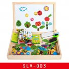 16 Style Wooden Magnetic Puzzle Double-Sided Drawing Board Farm/Animals/Vehicle/Circus Puzzle Toys f