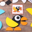 Wood Puzzle Geometric Shape Creative DIY Puzzle Toy Wooden Bricks Kits Puzzle Box Educational Toys B