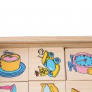 Card and Graphics Matching Box for Kids Wooden Educational Toys Montessori Enlightenment Teaching Wo