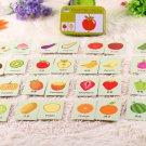 32pcs/set Cartoon Animals Wood Puzzle Cognition Puzzles Early Education Match Cards Box Toys oyuncak