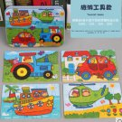 10 Styles Children Jigsaw Puzzle Cartoon 4 in 1 Puzzles Metal Iron Box 3D Wood Puzzle Early Educatio