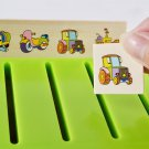 Puzzle Cards Montessori Early Educational Wood Box Learn Toys Mathematical Knowledge Classification