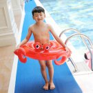 Red Crab Swimming Ring Floating Seat Kids Inflatable Crab Swim Pool Float Baby Float Water Inflatabl