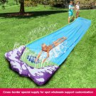 4.8M Children's Water Toy Waterslide Summer Lawn Outdoor Grass Water Spray Sheet Man Kids Surfing Sl