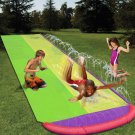 4.8m Giant Surf 'N Double Water Slide Lawn Water Slides For Children Summer Pool Kids Games Fun Toys