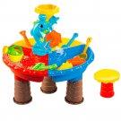 Kids Beach Sandpit Toy Summer Outdoor Sand Bucket Water Wheel Table Play Set Children Learning Educa