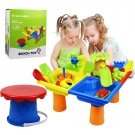Beach Play Activity Table Kids Durable Realistic Sand and Water Table with Cover Educational Games T