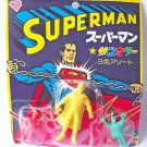 Superman - 3 Color Keshigumu Set 3 - Vintage Japanese Eraser Figure
