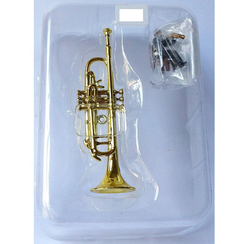 Miniature Orchestral Instrument - Trumpet Brass - Non Scale - F-Toys