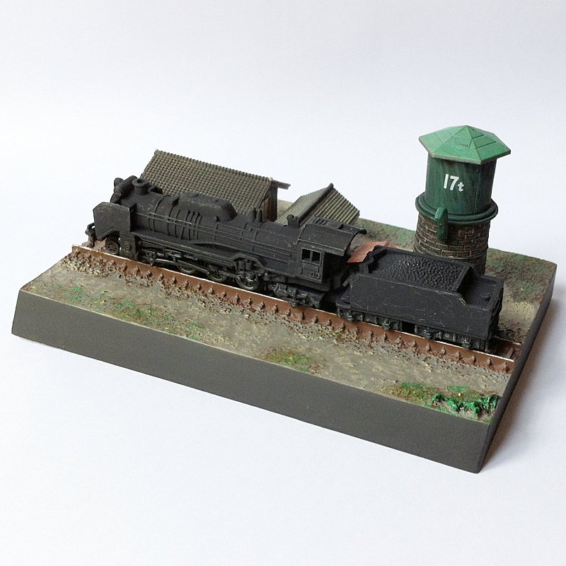 Japan Railfan Magazine Vol.1 - Stopped In Front Of Water Tower Miniature Diorama