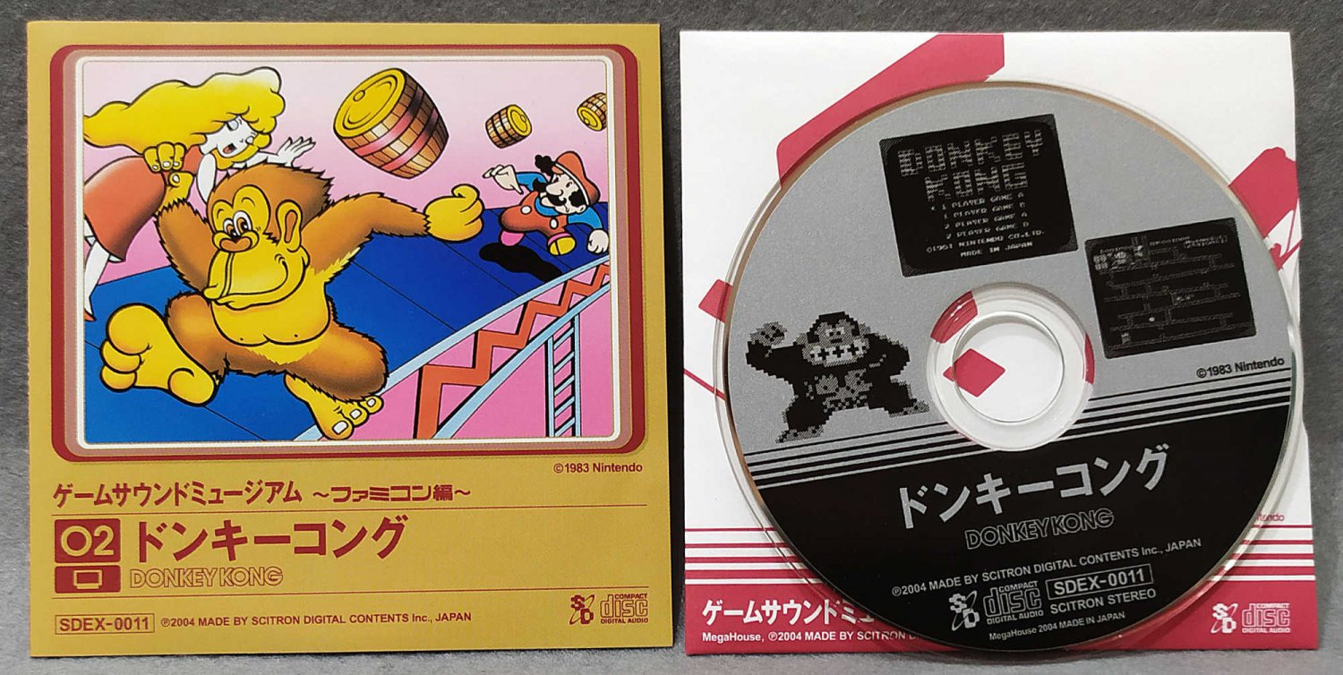 Game Sound Museum Donkey Kong Soundtrack Mini CD Nintendo Famicom Mega House