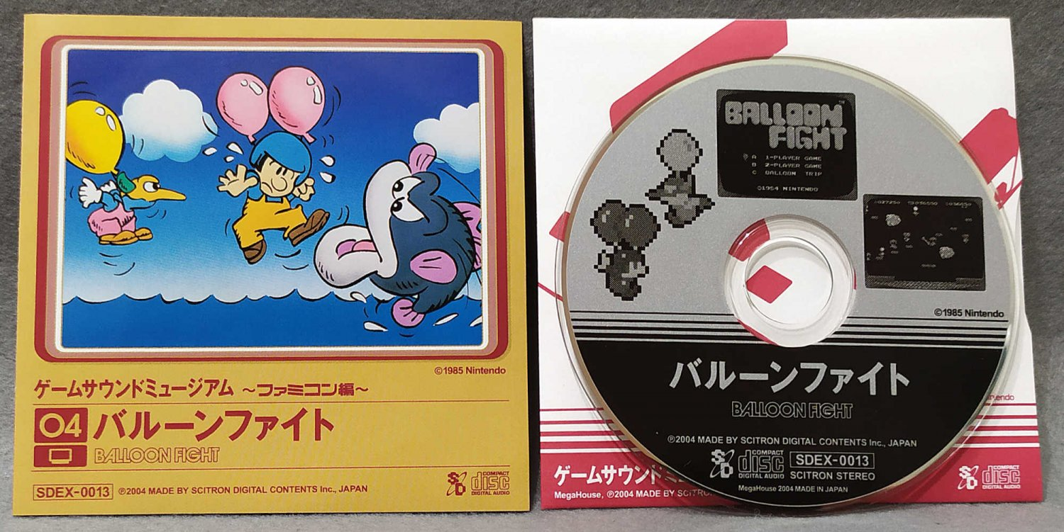 Game Sound Museum Balloon Fight Soundtrack Mini CD Nintendo Famicom Mega House