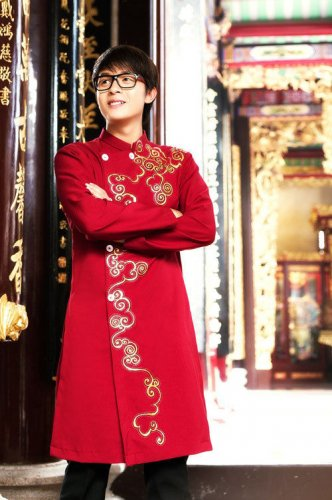 long dress clothes aodai  ao ao dai truyen thong cho nam, traditional dress man