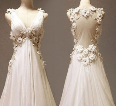 dress beautiful wedding dress dress long New White/ivory Wedding dress Bridal