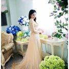 Purple vietnamese long dress viet nam traditional dress aodai  ao dai ALL SIZES