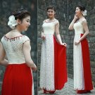 Vietnamese traditional dress wedding dress ao dai  traditional long dress miss