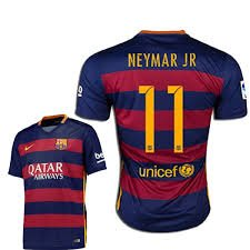 Barcelona #11 Neymar Jr UEFA Home jersey w shorts kid youth for age 6-8