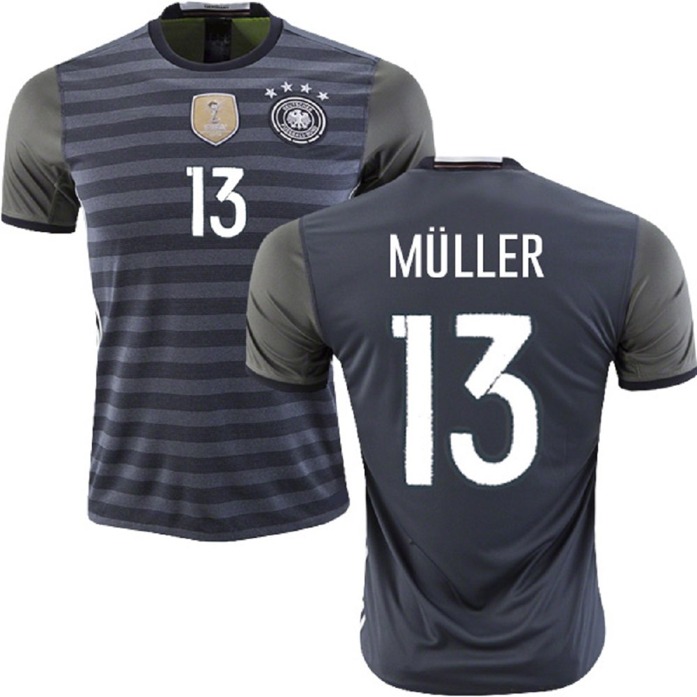 Germany #13 Muller Jr Away jersey kid youth for age 6-8 (2017 Season)
