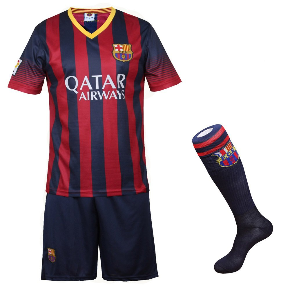 Barcelona #10 Messi Home jersey with shorts & socks kid youth for age 8-10 YC