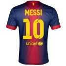 Barcelona #10 Messi UEFA Home jersey t-shirt kid youth for age 10-12