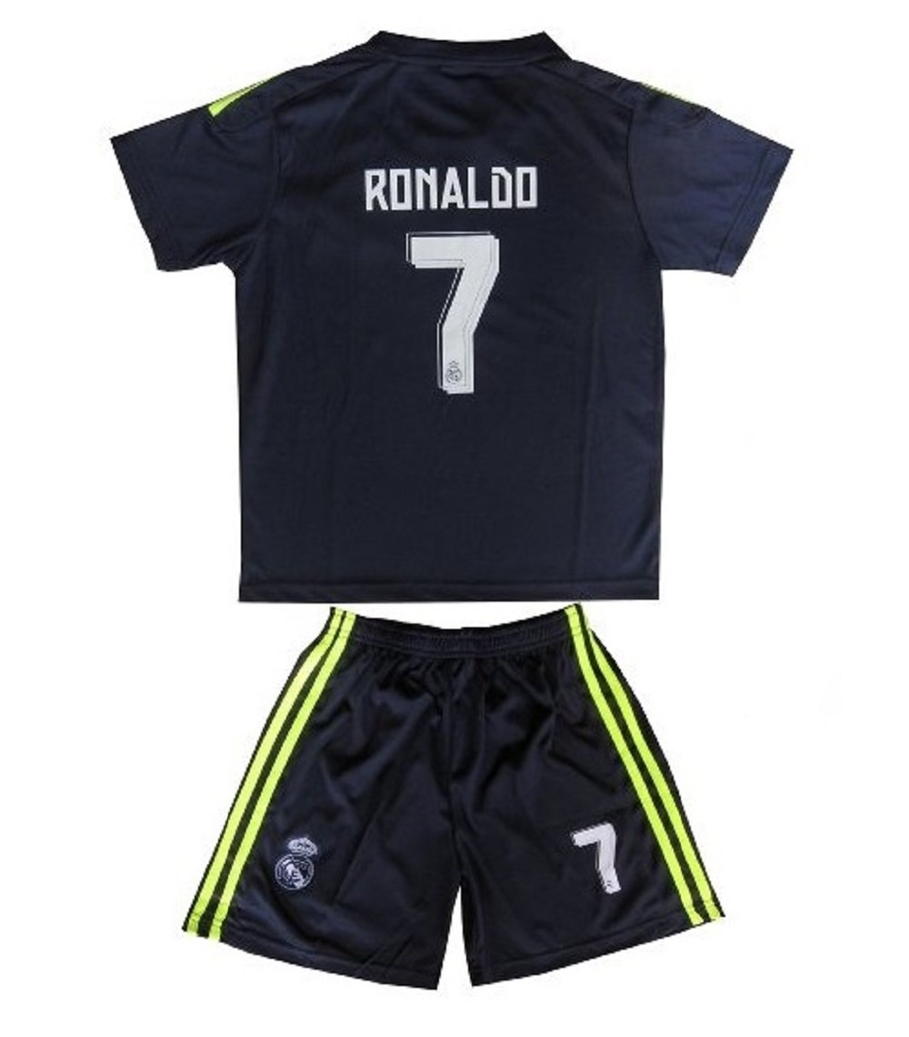 Real Madrid #7 Ronaldo Away jersey kid youth for age 10-11