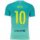 Barcelona #10 Messi UEFA Away jersey kid youth for age 6-8